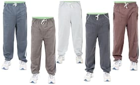 Loose Fit Blended Track Pants Pack Of 5