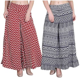 Women Crepe Palazzo ,Pack Of Pack of 2