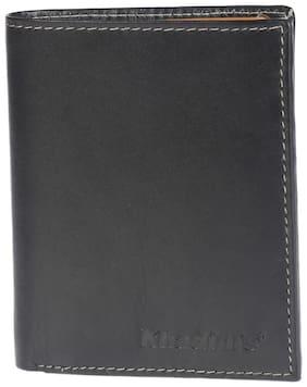 Khadim's Black Bi-fold Wallet