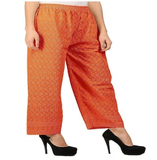 2 Palazoo combo Orange Retail Kiba of Orange khadi px1gtqw