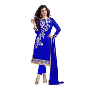 Kimisha Blue Chanderi Dress Material