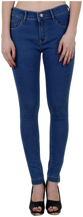 KING SIZE Women Skinny fit Mid rise Solid Jeans - Blue