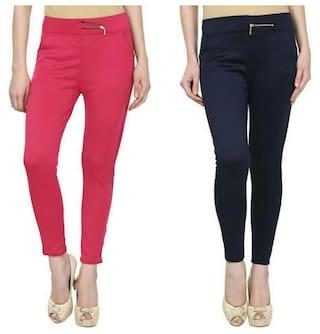 Kismat Fashion Girls Fashionable Jegging Combo of Two