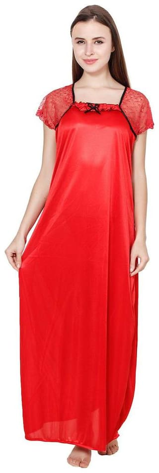 Kismat Fashion Red Night Gown