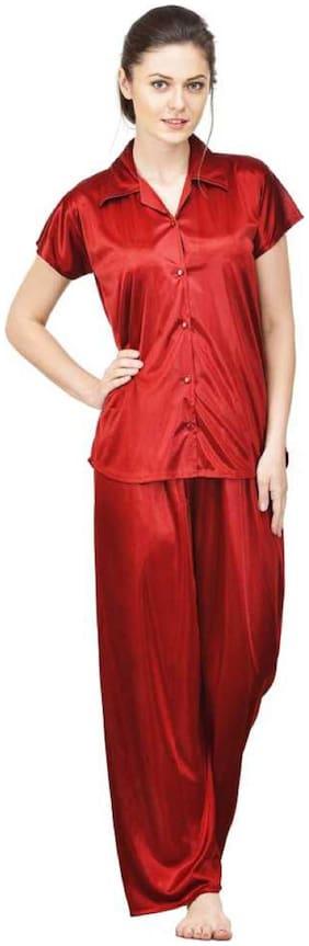 Self Design Top and Pyjama Set ,Pack Of 2
