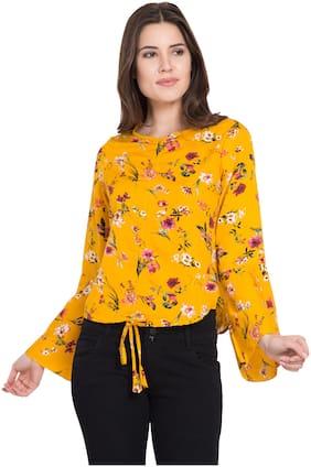 Women Floral Round Neck Top