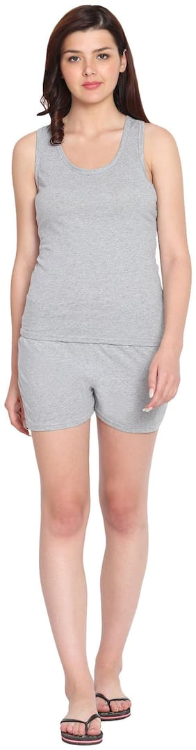 Solid Top and Shorts Set