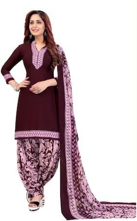 KKRISH Maroon Unstitched Kurta with bottom & dupatta With dupatta Dress Material