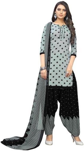 KKRISH Grey Unstitched Kurta with bottom & dupatta With dupatta Dress Material