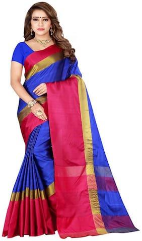 KKRISH  Women Artificial Silk Multi Regular Saree With Blouse