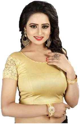 KKRISH Women Lycra Solid Blouse Golden