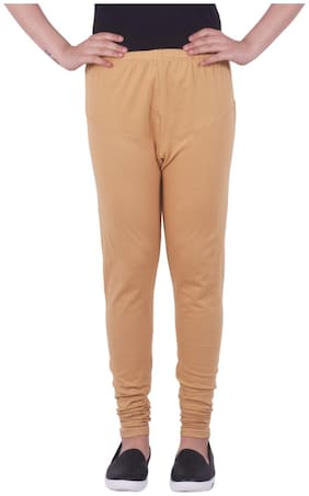 KKS FASHION MART Blended Leggings - Brown