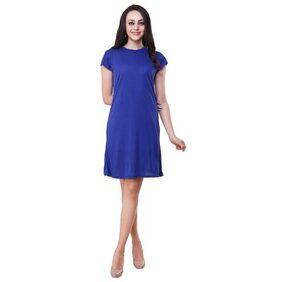 Klick2 Style Plain Dress Blue