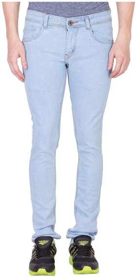Chrome & Coral Men Blue Skinny Fit Jeans