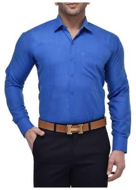 Chrome & Coral Men Regular fit Formal Shirt - Blue