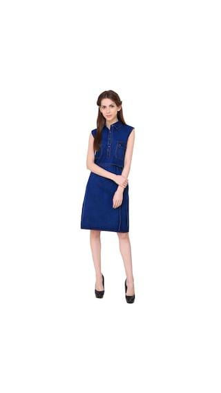 Klick2Style Heavy Denim Dress for Ulitame Look