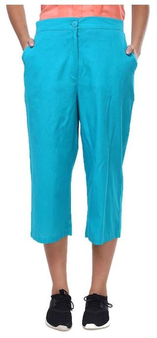 Trouser Linen Firozi Cotton Culotte Klick2Style wIFxS41qn5