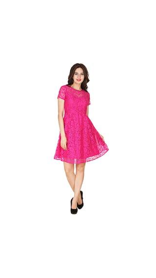Pink KLick2Style Stylish Stylish KLick2Style Skater Dress qPfgHPxXwr