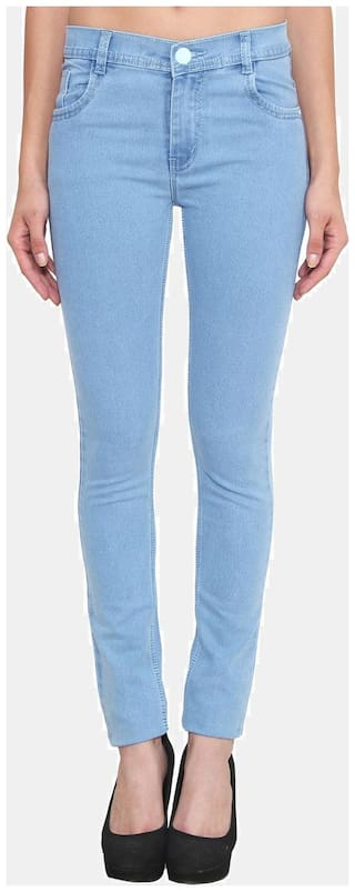 Klick2Style Women Slim Fit Mid Rise Solid Jeans - Blue