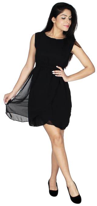 Dress Klick2Style Georgette Black Klick2Style Women's Women's qzUwBXfXp