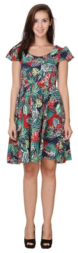 Dress Aline Neck Scoop Klick2Style Color Multi qt8wnT