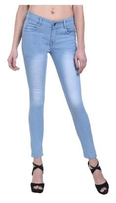 Klick2Style Women Regular Fit Mid Rise Solid Jeans - Blue