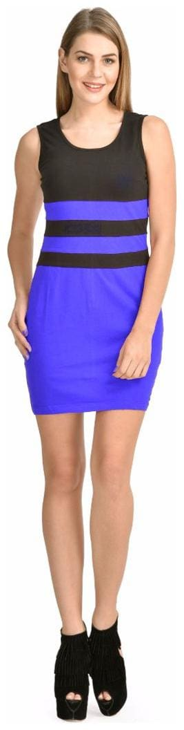 Klick2Style Viscose Solid Fit & flare dress Multi