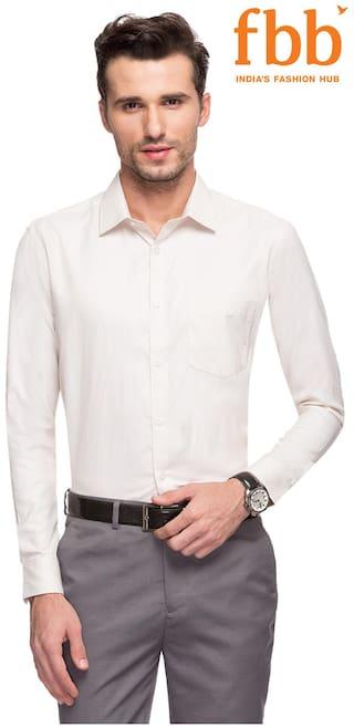 Textured Shirt Beige Regular Knighthood Formal Fit W2zBr