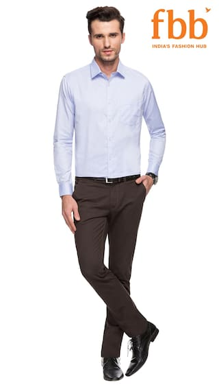 Textured Light Fit Knighthood Formal Shirt Slim Blue CeeIAI