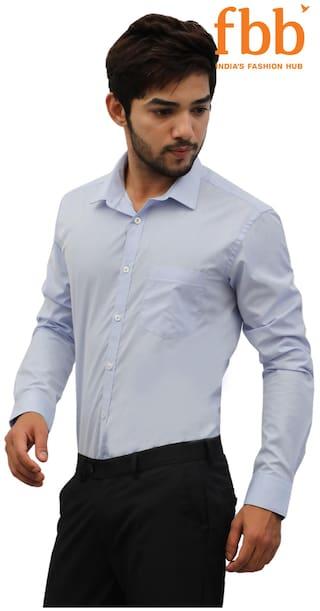 Formal Men Light Solid Blue Knighthood s Shirt 62XPqE