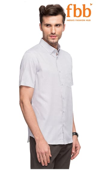 White Slim Knighthood Shirt Printed Fit Formal fyTMSS9JV