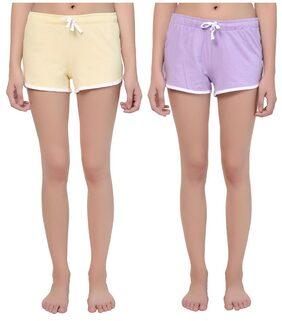 Kotty Women Solid Shorts - Multi
