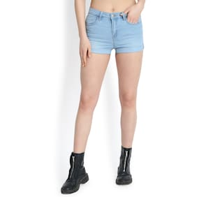 Kotty Women Solid Shorts - Blue