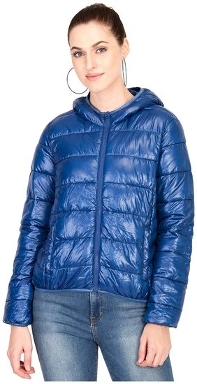 Kotty Women Solid Regular Jacket Jacket - Blue