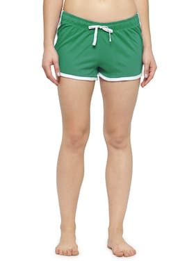 Kotty Women Solid Shorts - Green