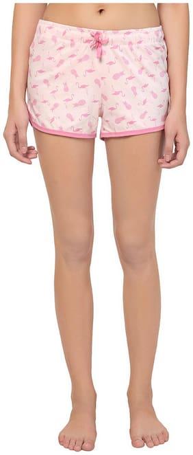 Kotty Women Printed Regular shorts - Pink