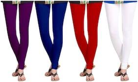 KRIPI Women Cotton Solid Multi  Leggings