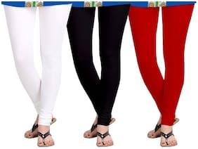 Kripi Women and Girls Ultra Soft Cotton Solid Churidar Legging - Multi