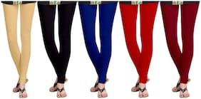 KRIPI Women Cotton Solid Legging Multi