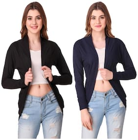 Krishty Trading Casual Wear Shrug for women Black;Navy Blue