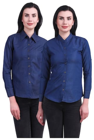 New Shirt Jean Women Denim Kritika's For dxqawdgY