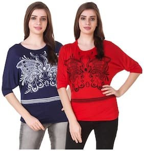 kritika world Women Polyester Printed - A-line top Multi