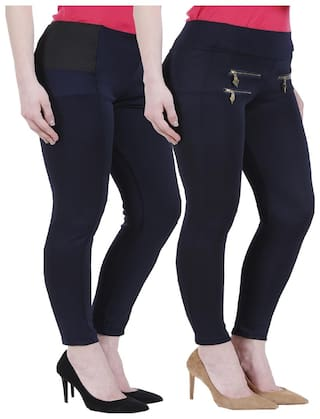 Kritika's Newfashion Denim Lycra Jagging For Women