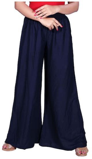 Trouser Wear Krizler Women's For Lifestyle Casual Designer Palazzo Solid ppIqYwv