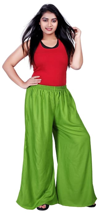 Krizler Lifestyle Designer Solid Casual Wear palazzo Trouser For Women's