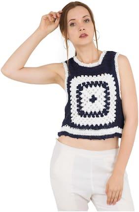 Kubes Crochet Blue Net Top
