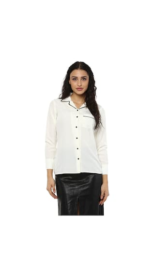 Shirts White White Crepe Casual Kubes Shirts Kubes White Casual Casual Kubes Crepe Crepe ZwSHUq