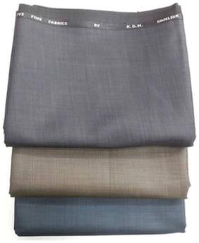 Kundan Men's Executive Trouser Fabric Combo Set- Pack of 3