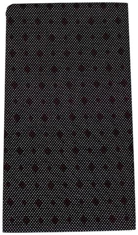 Kundan Men's Executive Pure Cotton Black Printed Shirt Fabric ( 1 Shirt Piece for Men )