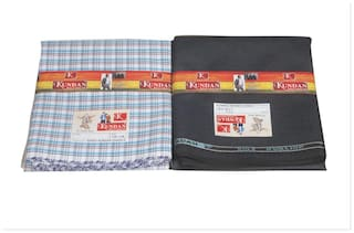 Kundan Polyblend Assorted Pack Of 2  Formal Shirt And Trouser (1.30m) 1 Each